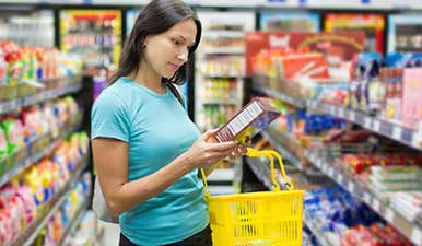 grocery shopping nutrition label
