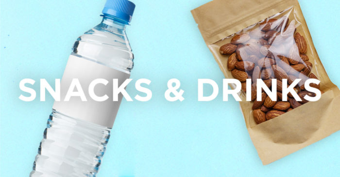 water and almonds