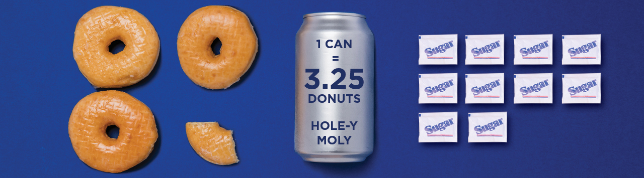 Can of Soda and donuts