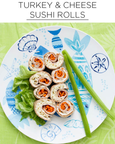 turkey and cheese sushi rolls
