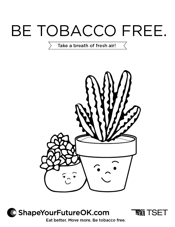 22885 TSET SYF Simple Coloring Pages_EatBetter_F_Be Tobacco Free